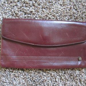 Aigner Leather Wallet Cordovan Burgundy